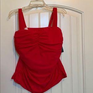 NWT plus size women's tankini top